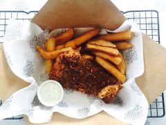 Classic Cod in Panko crumb with twice-cooked chips
